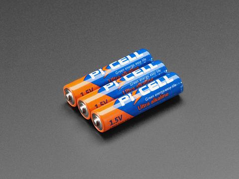 Alkaline AAA batteries - 3 pack