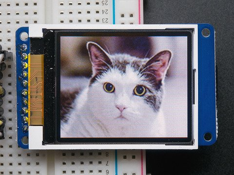 "1.8"" Color TFT LCD display with MicroSD Card Breakout"