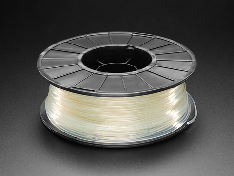PLA Filament for 3D Printers - 2.85mm Diameter - Clear - 1.0Kg