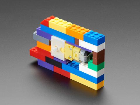 "LEGO compatible Brick Bracket for DC Gearbox ""TT"" Motor"