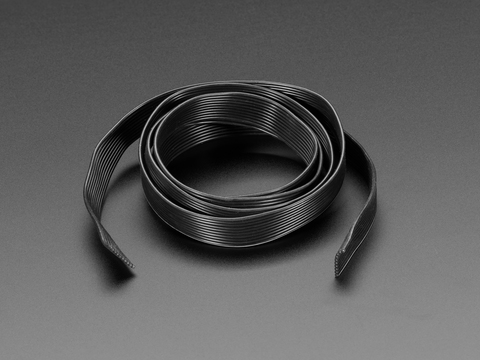 Silicone Cover Stranded-Core Ribbon Cable - 10 Wire 1 Meter Long