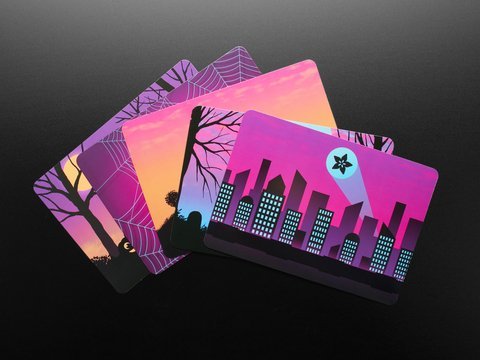 Adafruit #ElectronicHalloween Halloween Cards (set of 5)