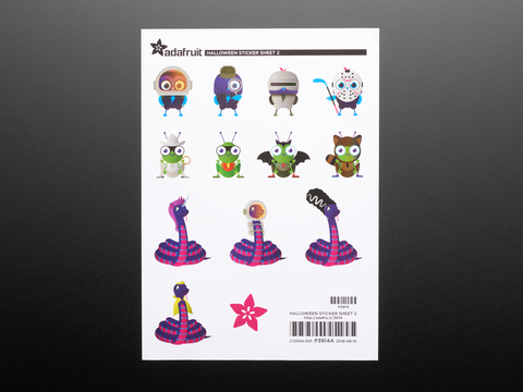 Adafruit #ElectronicHalloween Halloween Sticker Sheet Set 2