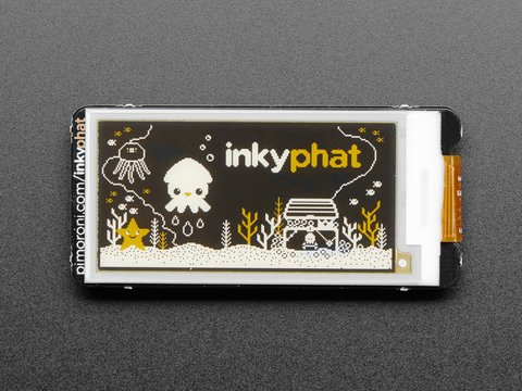 Pimoroni Inky pHAT - 3 Color eInk Display