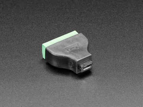 USB Micro B Female Socket to 5-pin Terminal Block