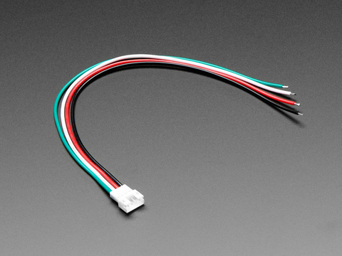 JST PH 4-Pin Socket to Color Coded Cable - 200mm