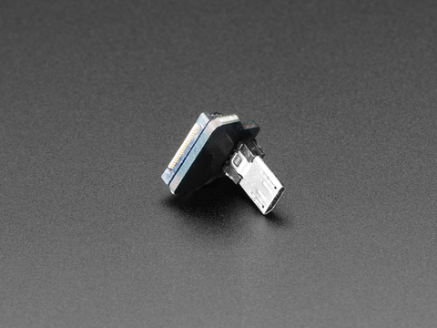 DIY USB Cable Parts - Right Angle Micro B Plug Down