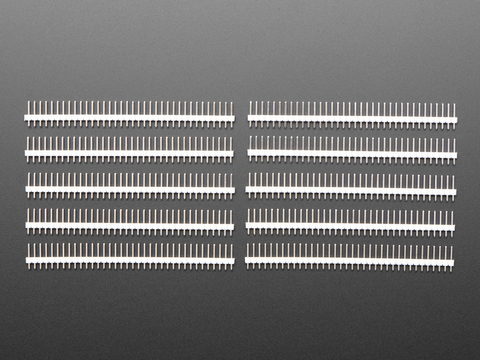 "Break-away 0.1"" 36-pin strip male header - White - 10 pack"