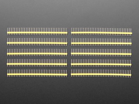 "Break-away 0.1"" 36-pin strip male header - Yellow - 10 pack"