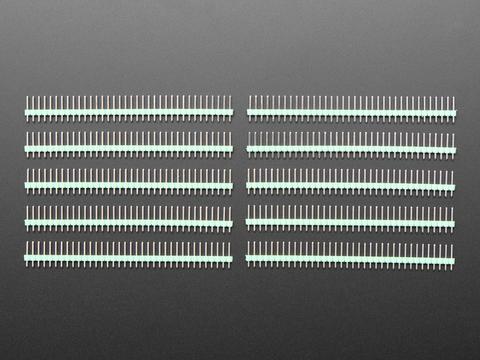 "Break-away 0.1"" 36-pin strip male header - Green - 10 pack"