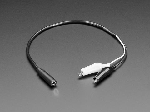 3.5mm Mono Audio Jack to Alligator Clip Cable