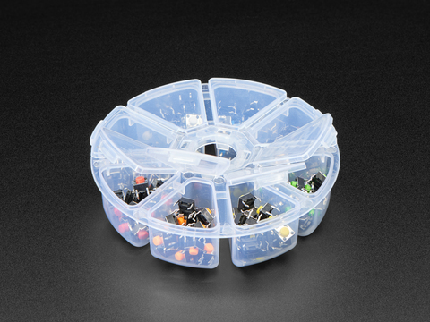 6mm Rainbow Tactile Button Deluxe Party Tray - 160 Pieces