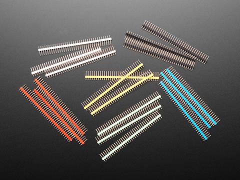 """Break-away 0.1"""" 36-pin strip male headers in Various Colors"""