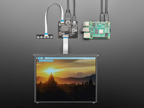 "Pimoroni HDMI 10"" IPS LCD Screen Kit - 1024x768"