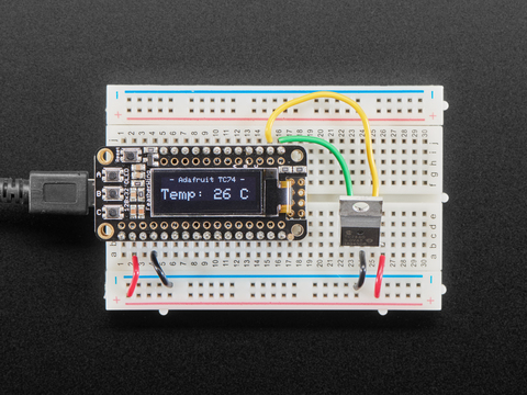 Breadboard Friendly I2C Temperature Sensor - TC74A0