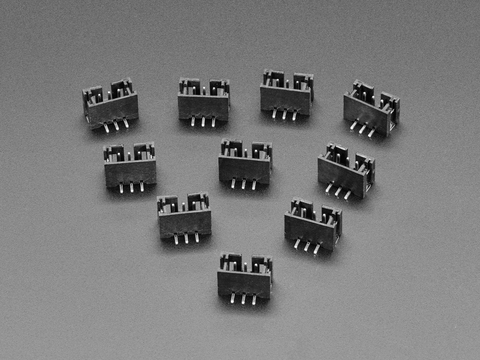 JST PH 3-pin Vertical Connector (10-pack)