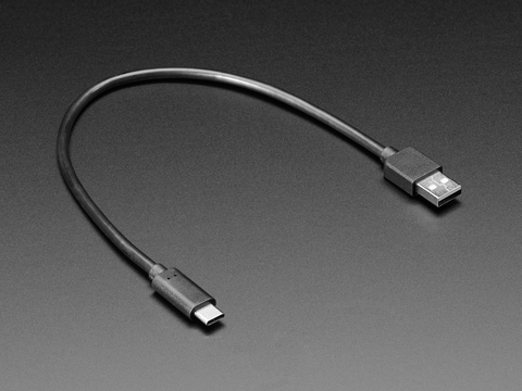USB Type A to Type C Cable - 1ft - 0.3 meter