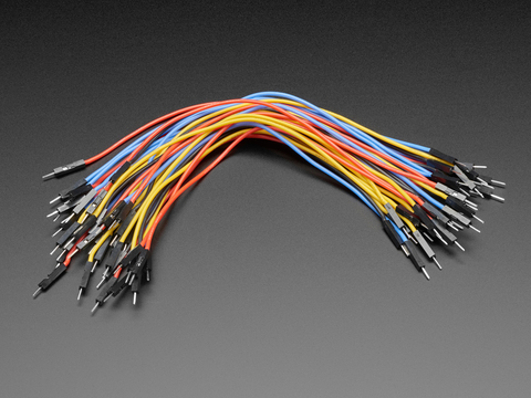 Premium Silicone Covered Male-Male Jumper Wires - 200mm x 40
