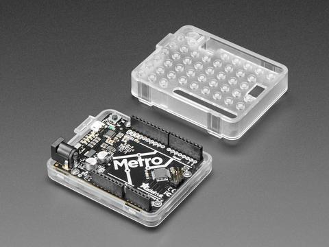 Plastic Translucent Enclosure for Metro or Arduino