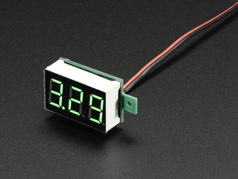 mini 2 wire volt meter 3 2 30 vdc id 460. Black Bedroom Furniture Sets. Home Design Ideas