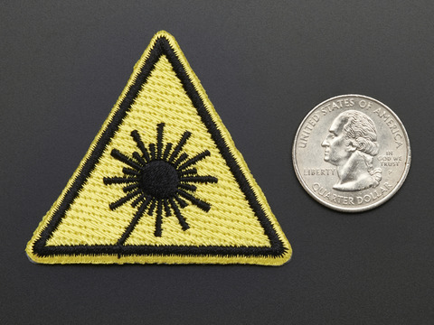 Laser cutter - Skill badge, iron-on patch