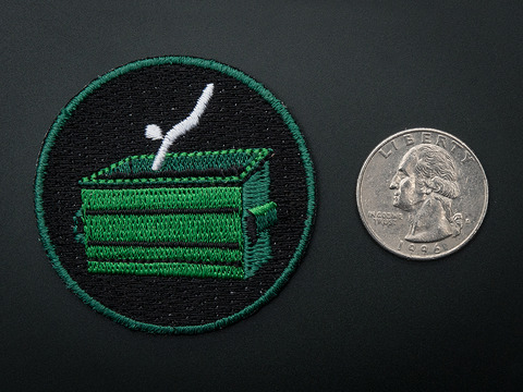 Dumpster Diving! - Skill badge, iron-on patch