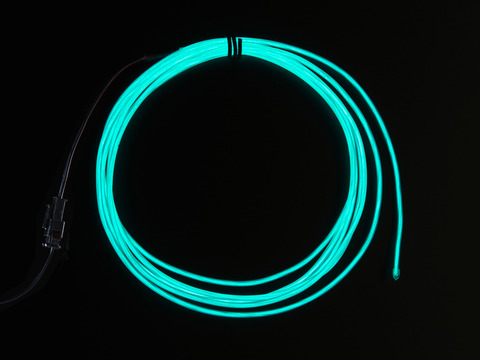 EL wire starter pack - Aqua 2.5 meter (8.2 ft)