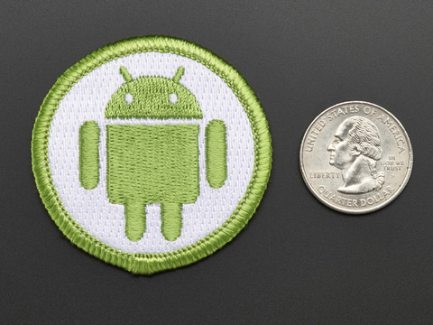 Android - Skill badge, iron-on patch