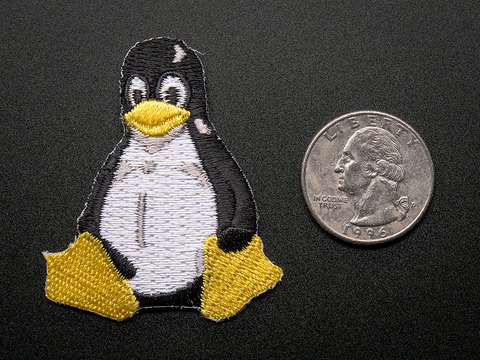 """Linux """"Tux"""" Penguin - Skill badge, iron-on patch"""