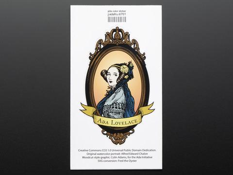 Ada Lovelace, large, oval, color - Sticker!