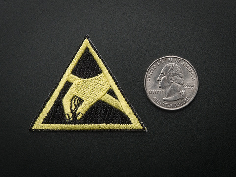 ESD (Electrostatic discharge) - Skill badge, iron-on patch