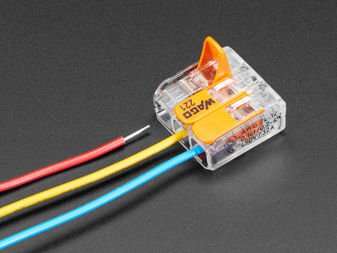 866 08 snap action 3 wire block connector (12 28 awg) pack of 3 id 866