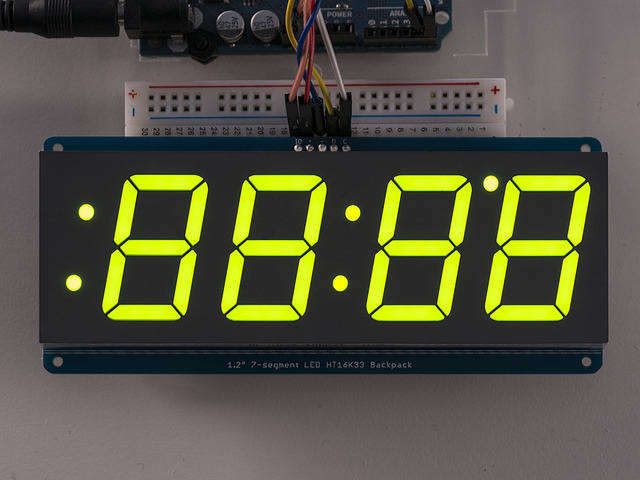 "Adafruit 1.2"" 4-Digit 7-Segment Display w/I2C Backpack - Green"