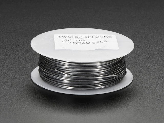 "Mini Solder spool - 60/40 lead rosin-core solder 0.031"" diameter"