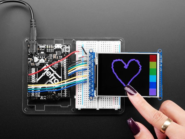 "3.2"" TFT LCD with Touchscreen Breakout Board w/MicroSD Socket"