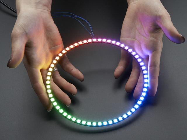 NeoPixel 1/4 60 Ring - 5050 RGB LED w/ Integrated Drivers
