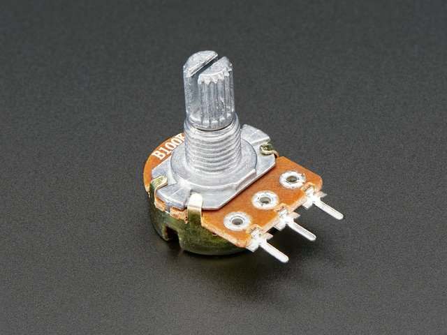 Panel Mount 100K potentiometer (Breadboard Friendly)