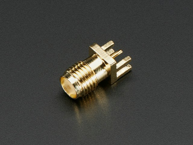"Edge-Launch SMA Connector for 1.6mm / 0.062"" Thick PCBs"