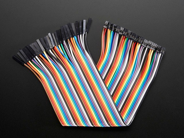 Female-Female 2.54 to 2.0mm Jumper Wires x 40