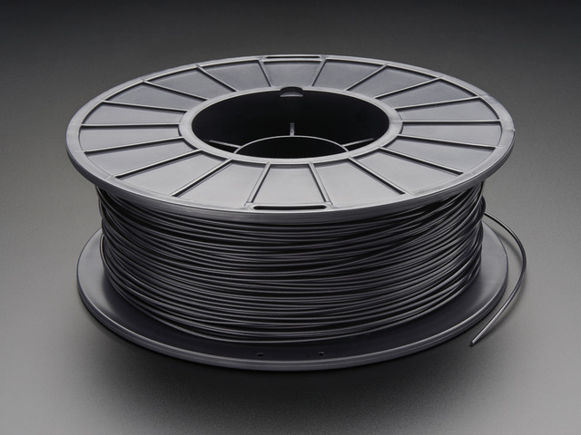 PLA Filament for 3D Printers - 1.75mm Diameter - Black - 1KG
