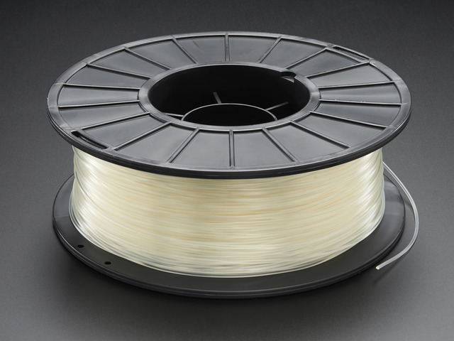 PLA Filament for 3D Printers - 1.75mm Natural Translucent - 1KG