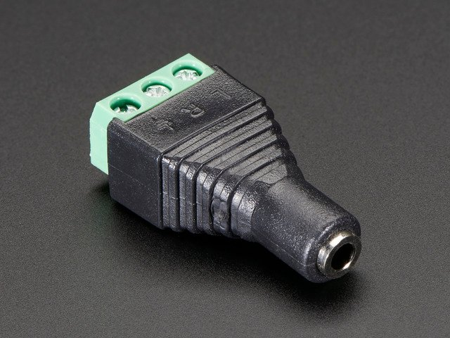 "3.5mm (1/8"") Stereo Audio Jack Terminal Block"