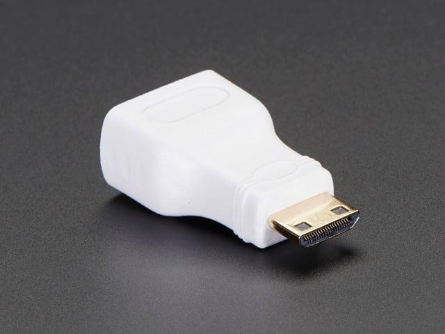 Mini HDMI Plug to Standard HDMI Jack Adapter