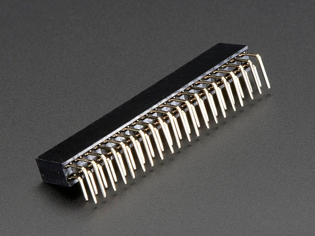 "0.1"" 2x20-pin Strip Right Angle Female Header"