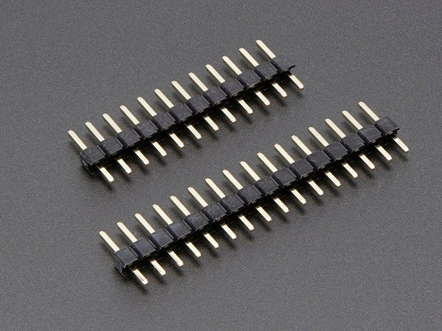 Short Feather Male Headers - 12-pin and 16-pin Male Header Set