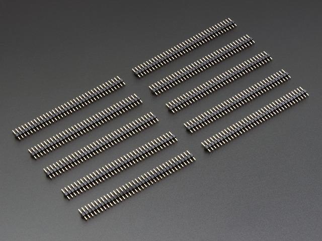 """36-pin 0.1"""" Short Break-away Male Header - Pack of 10"""