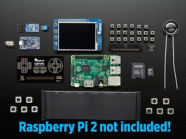 PiGRRL 2.0 Kit Pack - Build your own Pi Game Emulator!