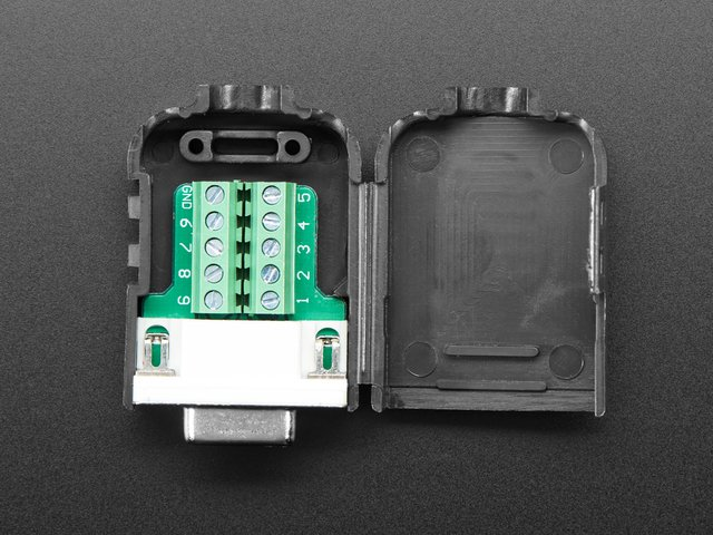 DE-9 (DB-9) Female Socket Connector to Terminal Block Breakout