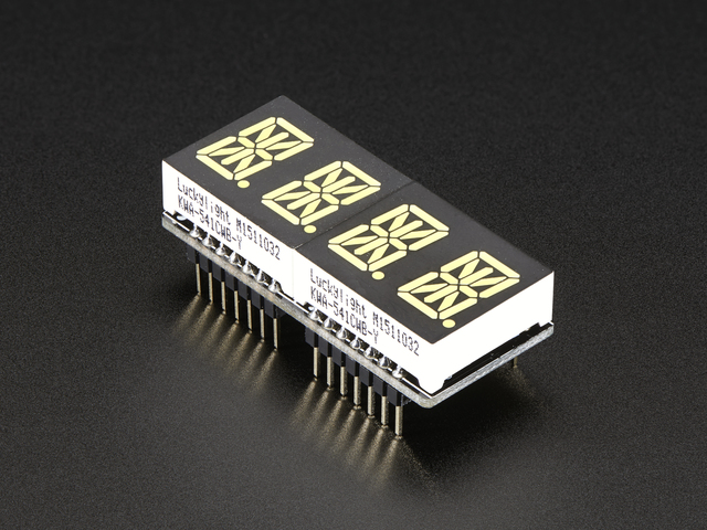 "Adafruit 0.54"" Quad Alphanumeric FeatherWing Display - White"