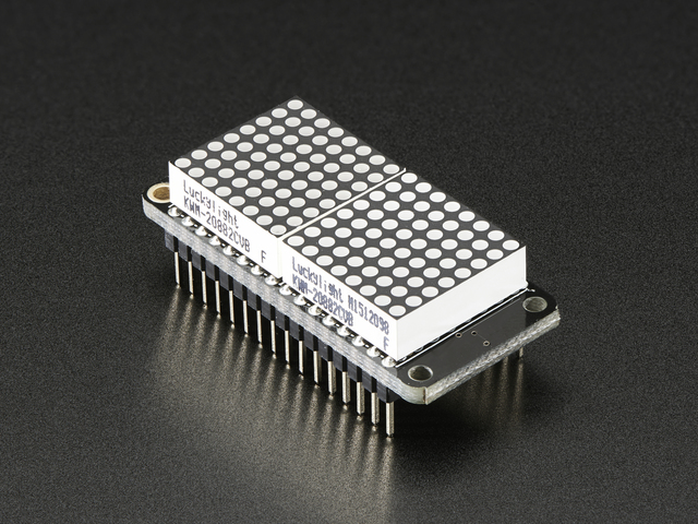 "Adafruit 0.8"" 8x16 LED Matrix FeatherWing Display - Red"